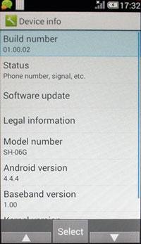 Установка приложений на Android-раскладушки Sharp Aquos K SHF31/32 и Docomo SH-06G Aquos K-tai